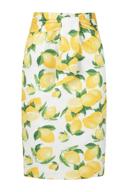 Banned Clothing - Lemon Pencil Skirt