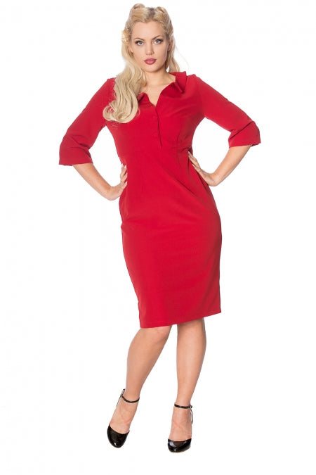 Banned Clothing - Lipstick Pencil Dress