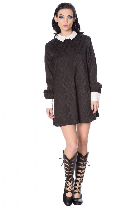 Banned Clothing - Mrs Not Nice Jacquard Dress