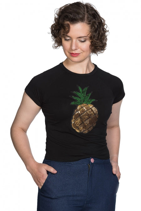 Banned Clothing - Pineapple Party Crop T-Shirt