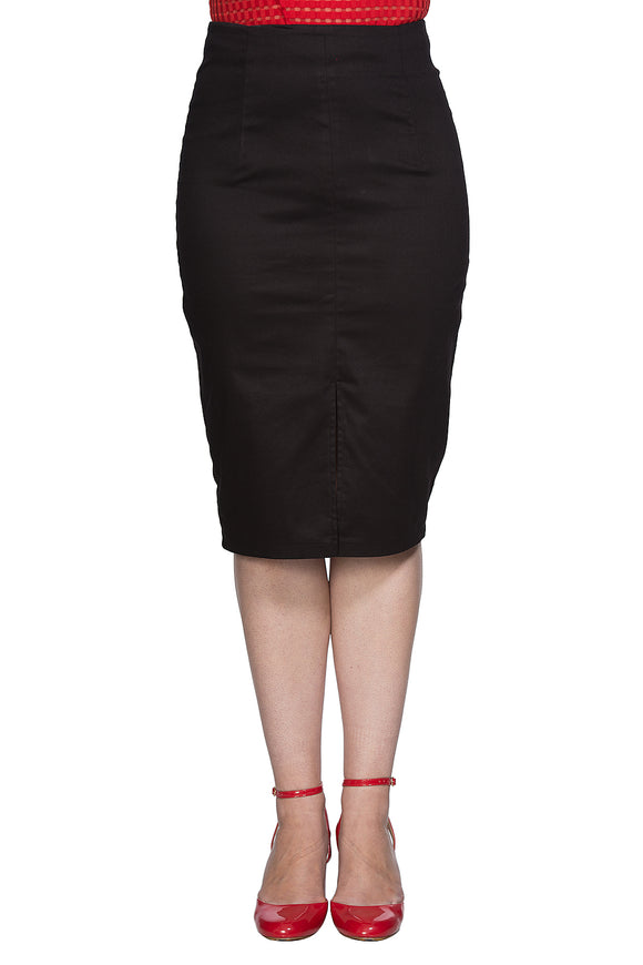 Banned Clothing - Classic Pencil Skirt with Slit