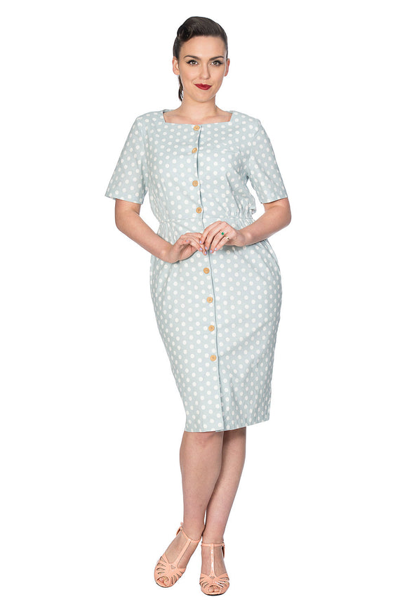 Banned Clothing - Polka Button Up Dress