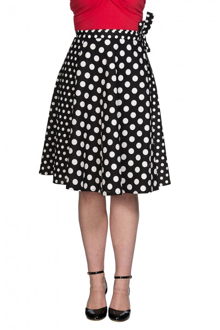 Banned Clothing - Polka Mix Wrap Skirt