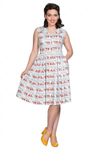 Banned Clothing - Sail Away Collar Dress