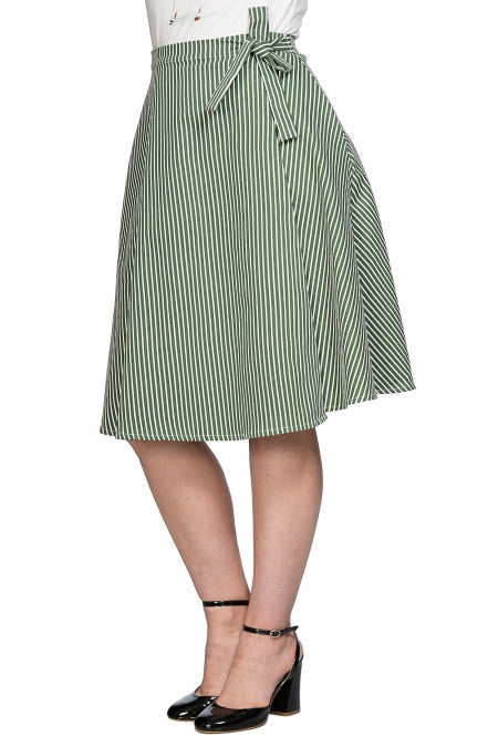 Banned Clothing - Stripe and Ripe Wrap Skirt
