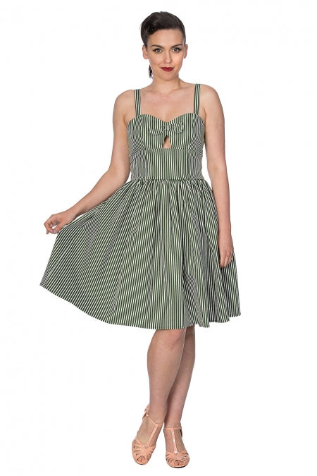 Banned Clothing - Stripes & Bows Flare Dress