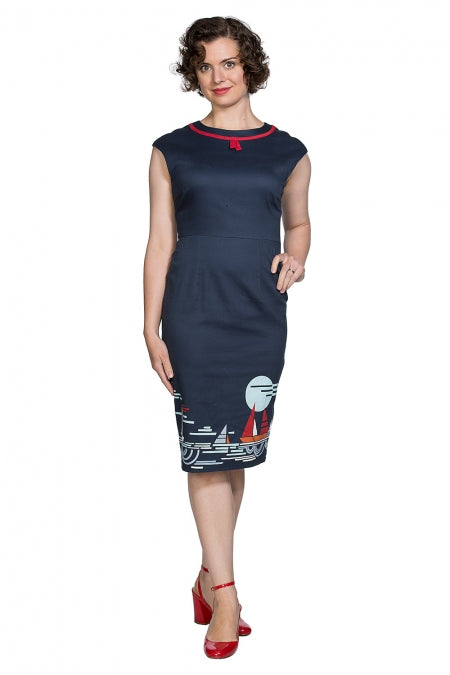 Banned Clothing - Summer Sail Pencil Dress