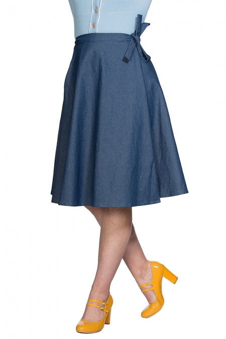 Banned Clothing - Sweet Sail Wrap Skirt