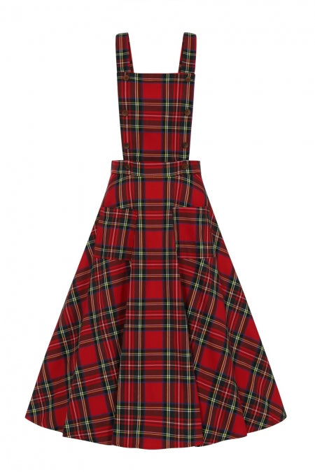 Banned Clothing - Sweet Tartan Pinafore Dress