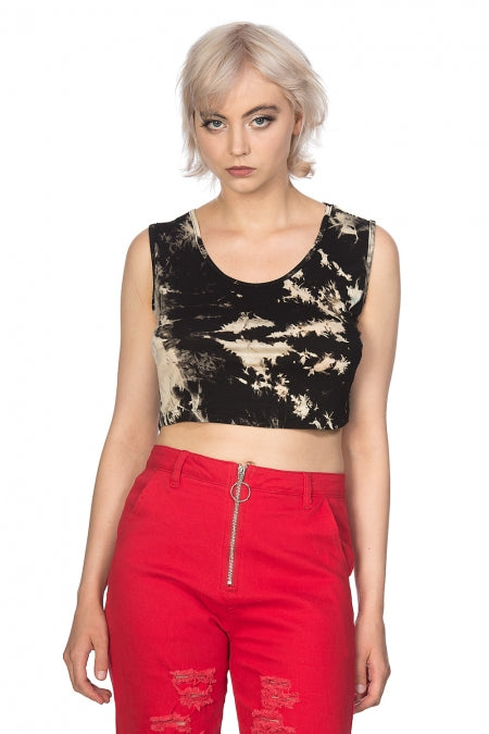 Banned Clothing - Tie Dye Crop Vest