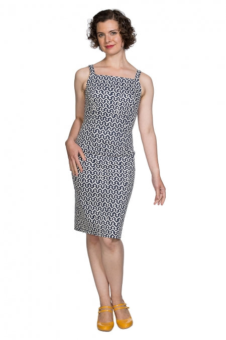 Banned Clothing - Tile Print Skinny Dress
