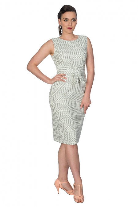 Banned Clothing - Tile Print Wiggle Dress