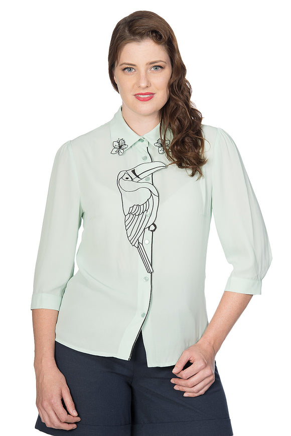 Banned Clothing - Toucan Blouse