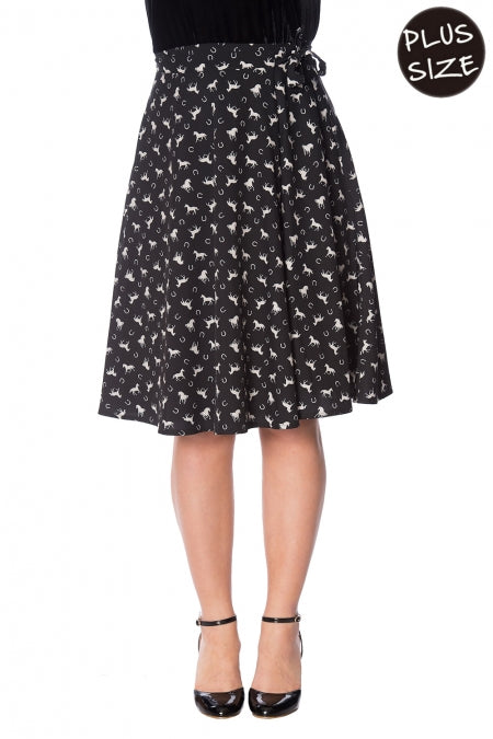 Banned Clothing - Wild Horses Wrap Skirt Plus Size