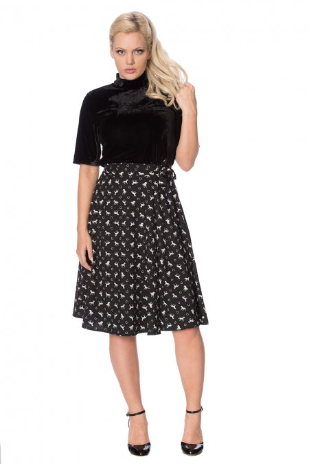 Banned Clothing - Wild Horses Wrap Skirt
