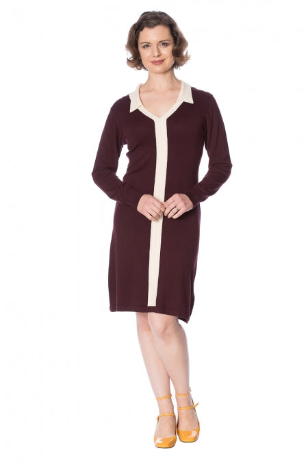 Banned Clothing - Contrast Jumper Dress