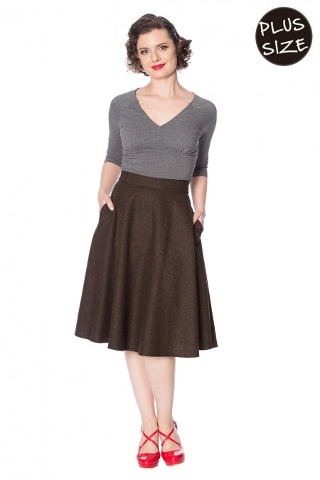 Banned Clothing - Sassy Swing Skirt Plus Size