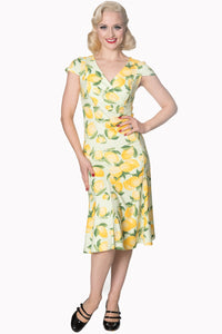 Banned Clothing - Yellow Lagoon Dress - Egg n Chips London