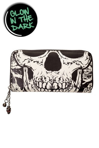 Banned Apparel - Black Skull Face Wallet