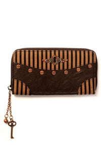Banned Apparel - Brown Stripe Steampunk Wallet - Egg n Chips London