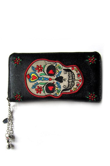 Banned Apparel - Candy Skull Wallet - Egg n Chips London