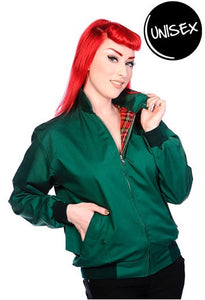 Banned Apparel - Green Harrington Unisex Jacket - Egg n Chips London