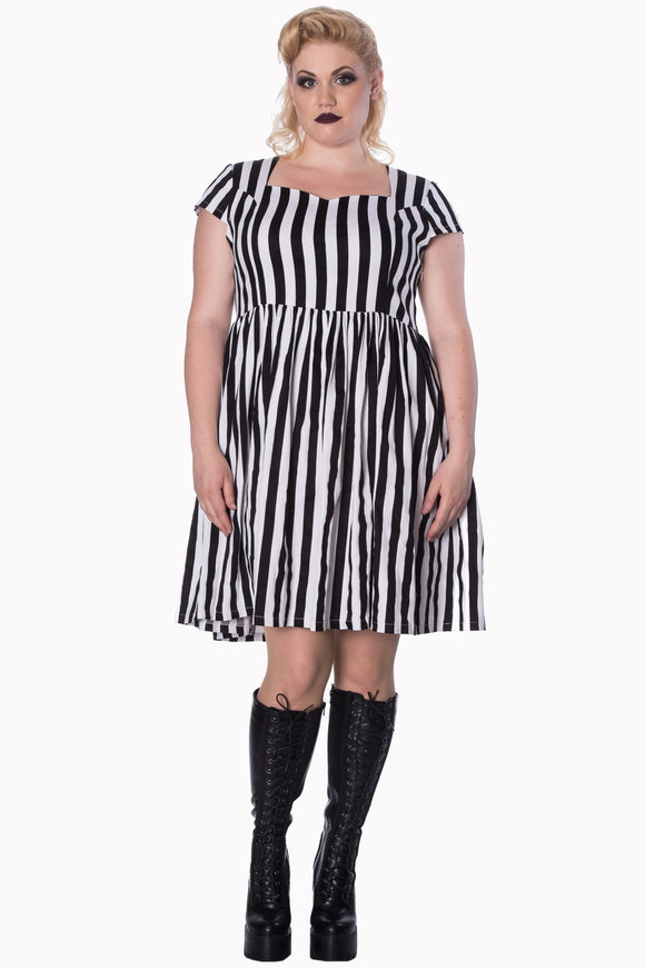 Banned Apparel - Heart To Heart Mini Plus Size Dress