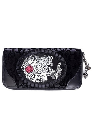 Banned Apparel - Ivy Black Cameo Lady Lace Wallet
