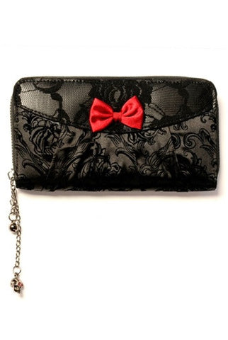 Banned Apparel - Ivy Black Lace Wallet