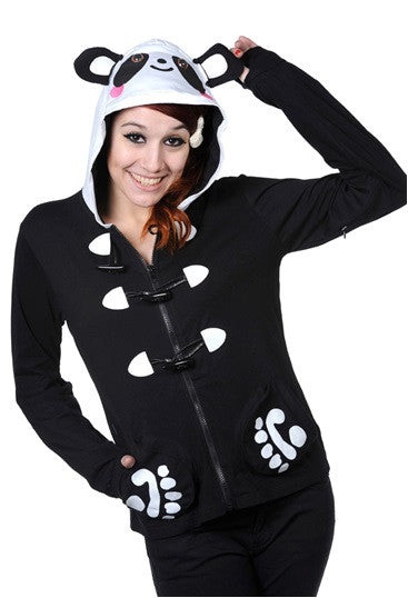 Banned Apparel - Panda Paws Black Hoodie - Egg n Chips London
