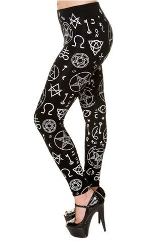 Banned Apparel - Pentagram Black Leggings