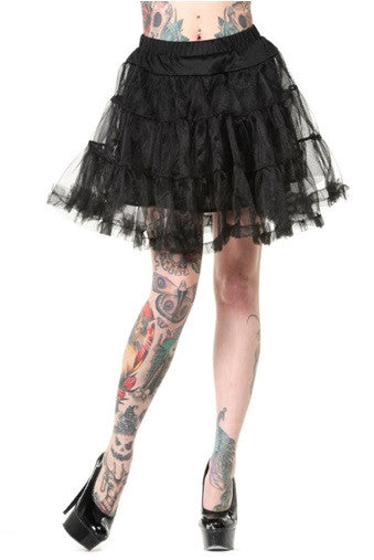 Banned Apparel - Petticoat Black Mini Skirt - Egg n Chips London