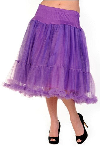 Banned Apparel - Petticoat Purple Long Skirt - Egg n Chips London