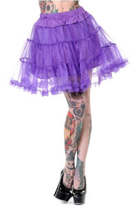 Banned Apparel - Petticoat Purple Mini Skirt - Egg n Chips London