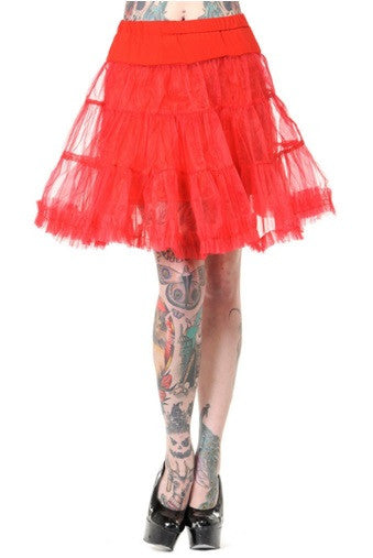 Banned Apparel - Petticoat Red Mini Skirt - Egg n Chips London