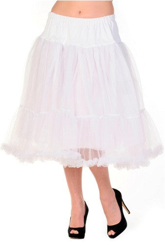 Banned Apparel - Petticoat White Long Skirt - Egg n Chips London