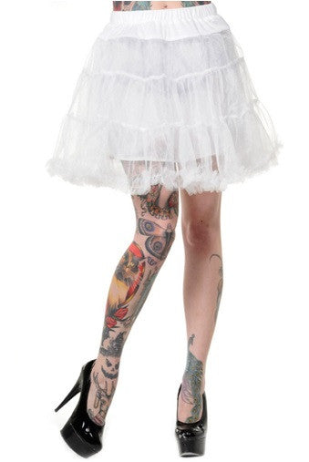 Banned Apparel - Petticoat White Mini Skirt - Egg n Chips London
