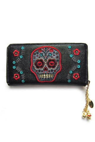 Banned Apparel - Purple Skull Wallet