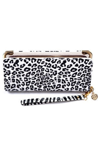 Banned Apparel - White Black Leopard Wallet - Egg n Chips London