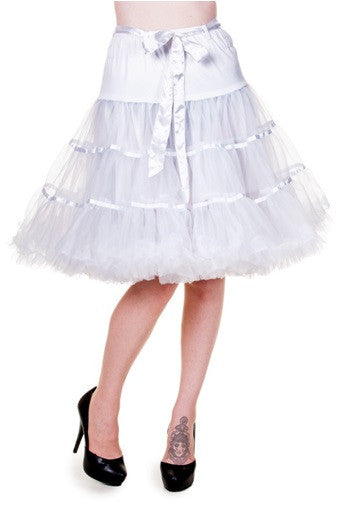Banned Apparel - White Petticoat Ribbon Skirt - Egg n Chips London