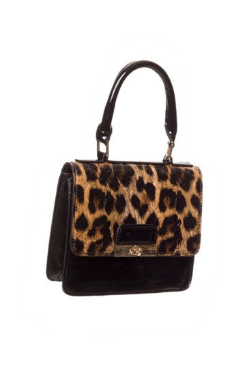 Banned Apparel - Small Leopard Handbag - Egg n Chips London