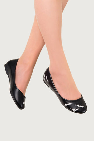 Banned Apparel - Bats Ballerina Flat Shoes
