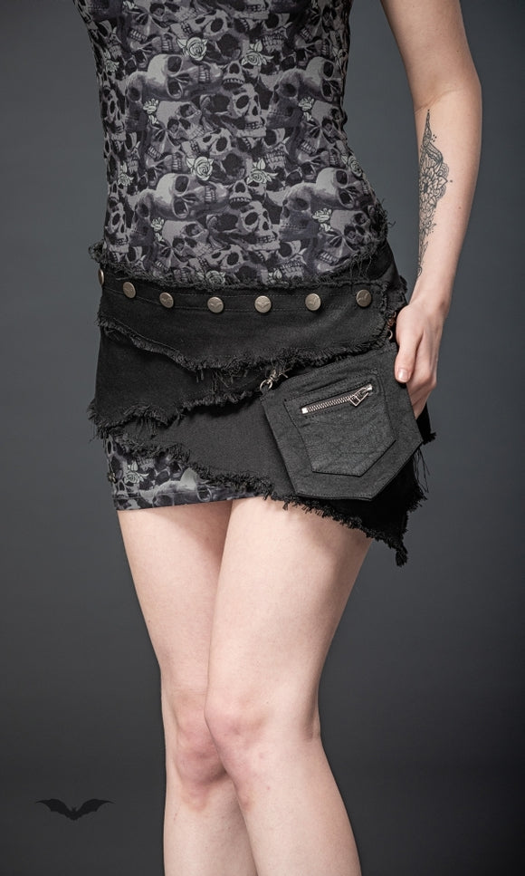Queen of Darkness - Belt with removable pocket, size is adju