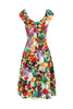 Voodoo Vixen - Beryl Floral Spring Dress - Egg n Chips London