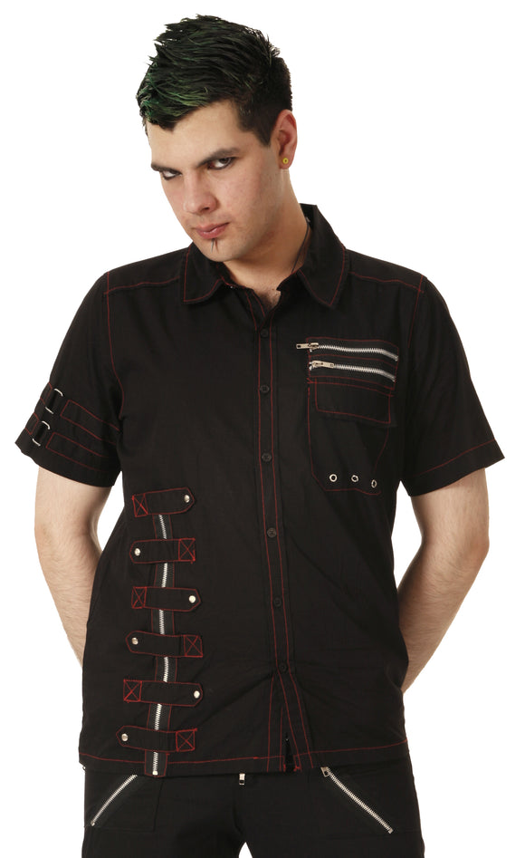 Black/Red Dead Threads - Black and Red Classic Gentlemen Shirt