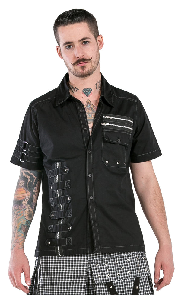 Black/Grey Dead Threads -  Black and Grey Classic Gentlemen Shirt