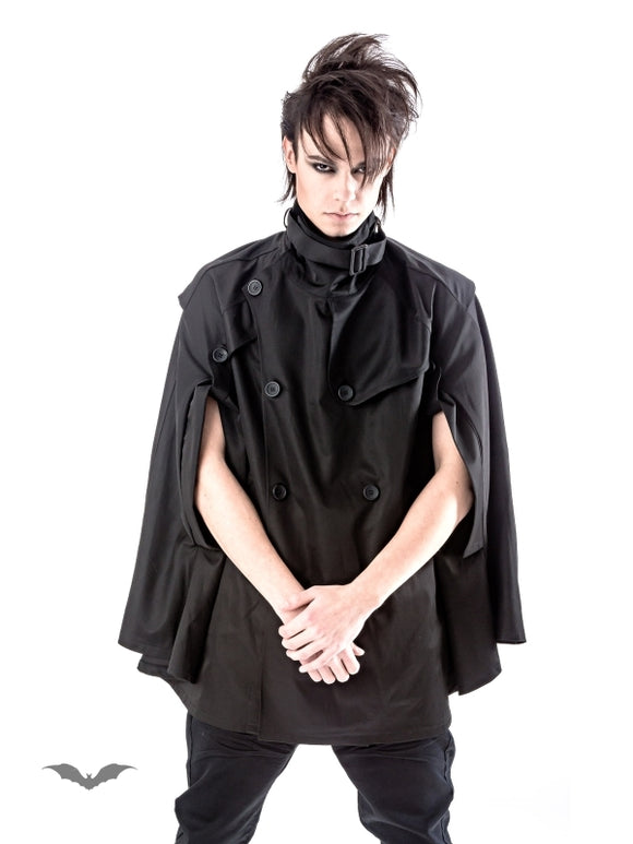 Queen of Darkness - Black Unisex Cape Jacket