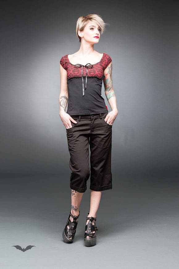 Queen of Darkness - Black kneelength trousers