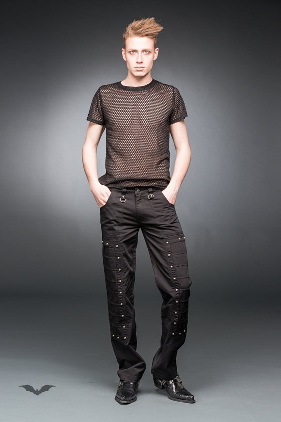 Queen of Darkness - Black pants with small studs