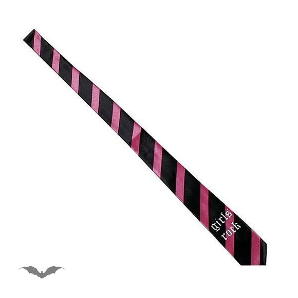Queen of Darkness - Black / pink stripes. Girls rock